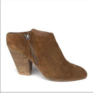 Dolce Vita Brown Ankle Boots Zip Suede Booties